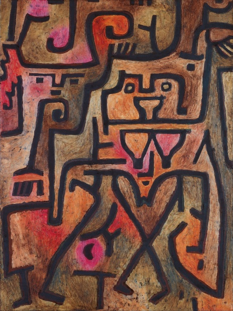 Forest Witches, 1938, oil on paper