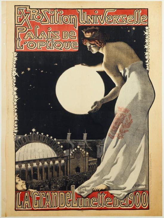EXPOSITION UNIVERSELLE , PALAIS DE L'OPTIQUE, LA GRANDE LUNETTE DE 1900