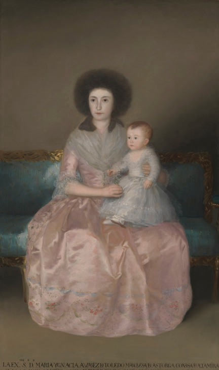 Countess of Altamira with her daughter, 1787-88